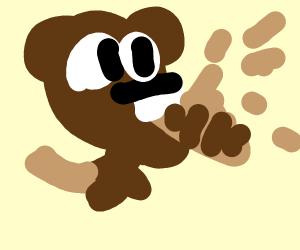 Beaver Eats A Baguette