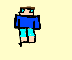 a minecraft character