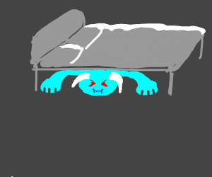 cold monster under the bed