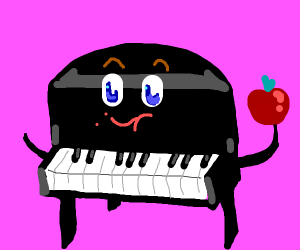 Eating piano