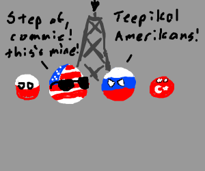 Country balls fighting over oil