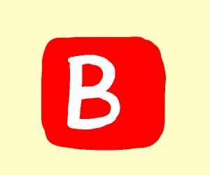 B emoji