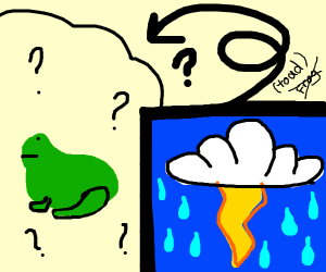 Know what happens to Toad in lightning storm?