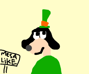 Goofy in a mesa-like area