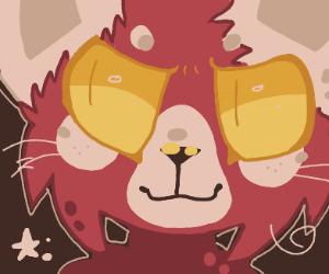 very epic red panda drawing