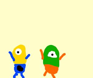 Minion meets an alien