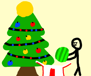 Gifting a watermelon for Xmas