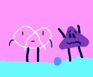 White pretzel stuck on ice feat. PurpleDorito