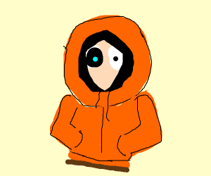 Kenny (South Park) but he's actually Sans