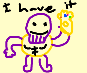 thanos has the infinity gauntlet