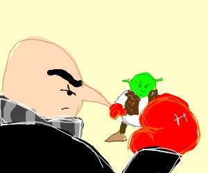 Gru and shrek boxing