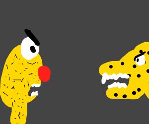 Yellmo and a cheetah