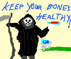 Death encourages kids to take good oral care