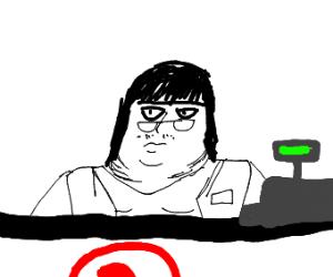 A cashier
