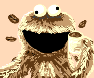 Cookie Monster's Cousin, Coffee Monster