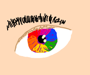 Colourful eye :o