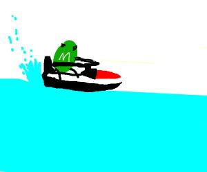 M&M jet skiing