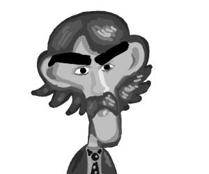 Fancy gentleman with huge eyebrows
