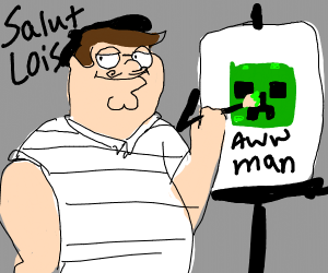 Peter Griffin thinks he's an artist