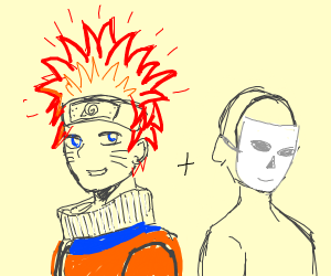 Res haired Naruto and another guy