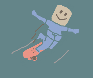 Guy oofs off a skateboard