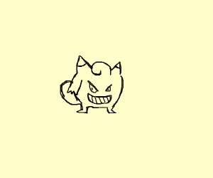 mashup of clefairy and gengar floatface