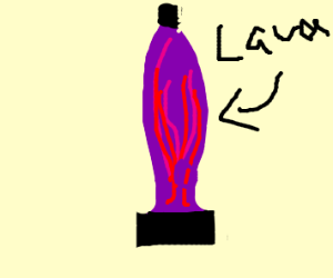 Purple lava lamp