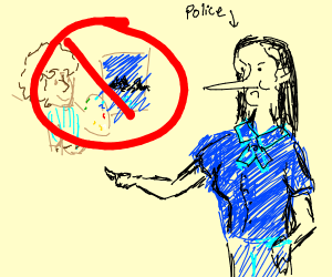 Police women hates Bob Ross
