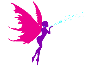 Emo fairy with diamond wings