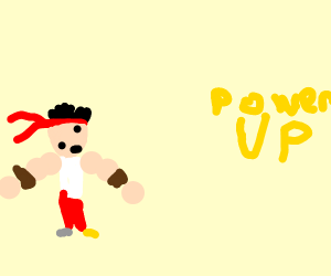 Video game fighter powers up