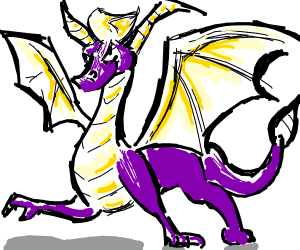 Spyro when he grows up as a big dragon