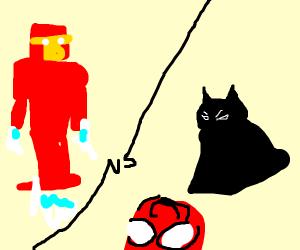 ironman vs spiderbatman