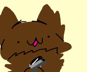 Dog with a gun