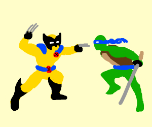 Three claws trying to attack a ninja lizard