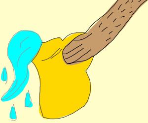 A guy porring water