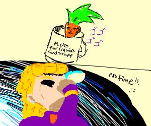 Carrot man in mug