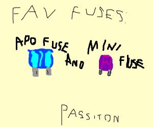 draw your favourite fuses P.I.O