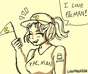 PAC man fan girl
