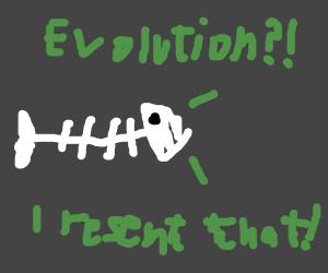 Bony fish resents evolution