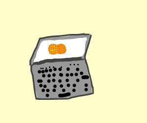 2 waffles on laptop screen