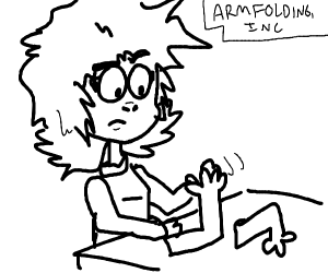 girl folding arms