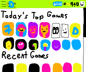 Drawception Top Games Page