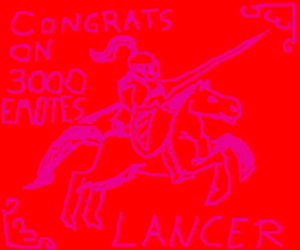 Congrats on 3000 emotes, Lancer!