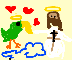 Parrot enjoying Heaven