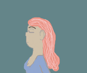 cute girl with pink hair