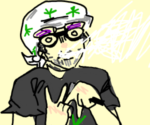 Cool man throwing gang signs