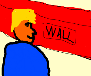 Donald Trump pleased with wall