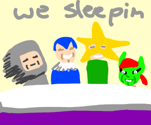 me and the boys but we want to sleep
