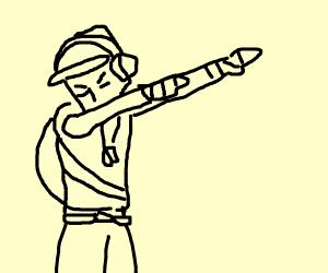 TF2 scout dabbing