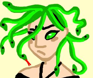 Medusa on a bad hair day
